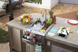 "Alfresco AGBC-24   Versa Sink 24"" and Bartender System"