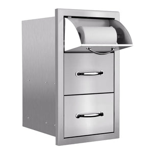 Masonry Double Drawer with Paper Towel Holder
