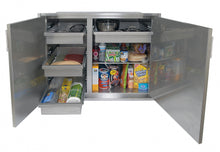 "Alfresco AXEDSP-30L  AXEDSP-42L  Low Profile (21 Inch) Sealed Dry Pantry 30""Wide And 42""Wide"