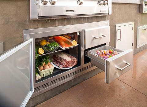 "Alfresco ARXE-42C   7.25 Cu. Ft. Under Grill Refrigerator 42"" Wide"