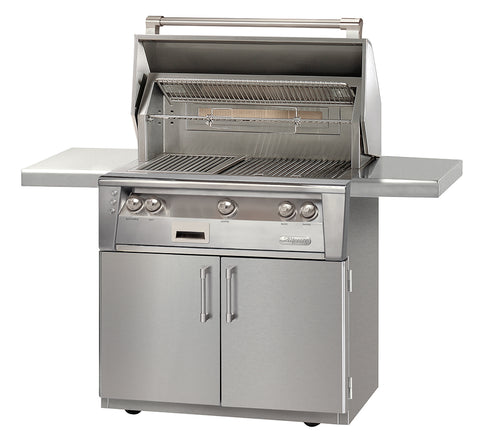 "Alfresco ALXE-36C Freestanding Gas Grill with Cart 36"" Wide Natural Or Propane Gas"