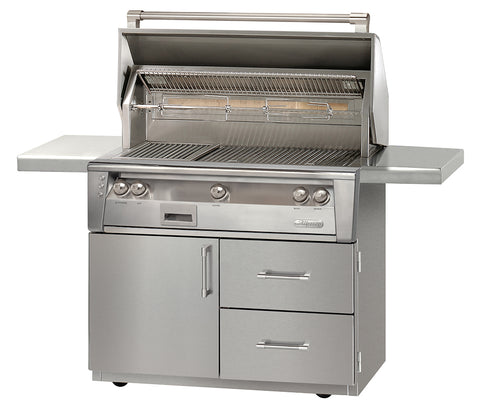 Alfresco ALXE-42CD Deluxe Freestanding Gas Grill with Cart Natural Or Propane Gas