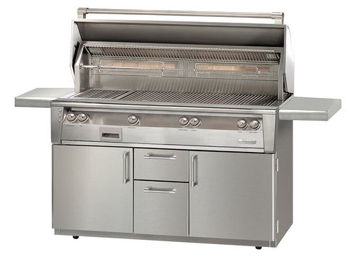Alfresco ALXE-56BFGC Freestanding Gas Grill Cart  With Sideburner Or Without Sideburner 56
