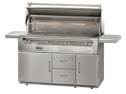 Alfresco ALXE-56BFGR Freestanding Gas Grill Cart with Refrigerated Base