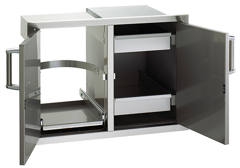 Flush Mounted Double Doors with 2 Dual Drawers