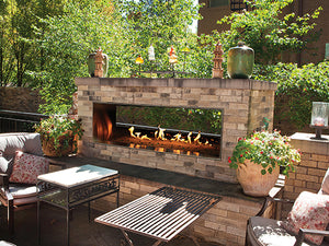 "Carol Rose See-Through 60"" Outdoor Linear Fireplace"