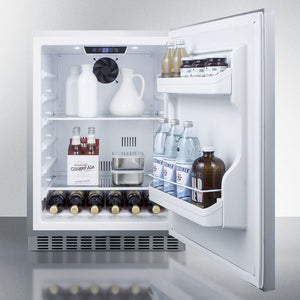 "Summit 24"" Wide Built-In Outdoor All Stainless-Refrigerator"
