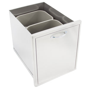 BLAZE ROLL OUT DOUBLE TRASH/RECYCLE DRAWER,  BLZ-TREC-DRW
