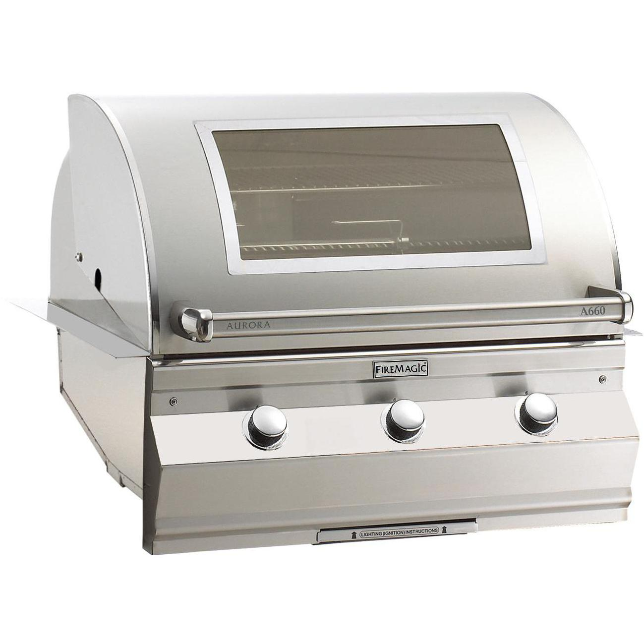 Aurora A660i Built-In Grill with Rotisserie