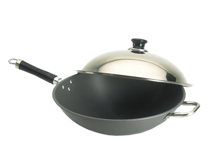 Wok with Stainless Steel Cover