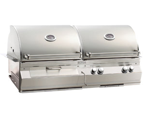 Aurora A830i Gas/Charcoal Combo Built-In Grill with Rotisserie