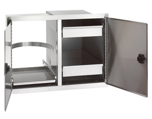 Legacy Double Doors with Trash Tray & Dual Drawers