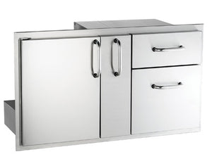 Select Access Door & Double Drawer Combo with Platter Storage