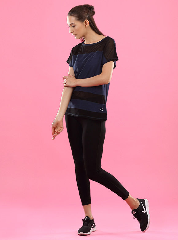 Kica Ripple Top Navy Blue