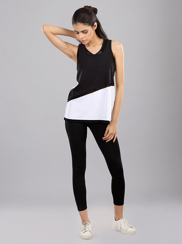 Kica Sweep Tank Top Black/White