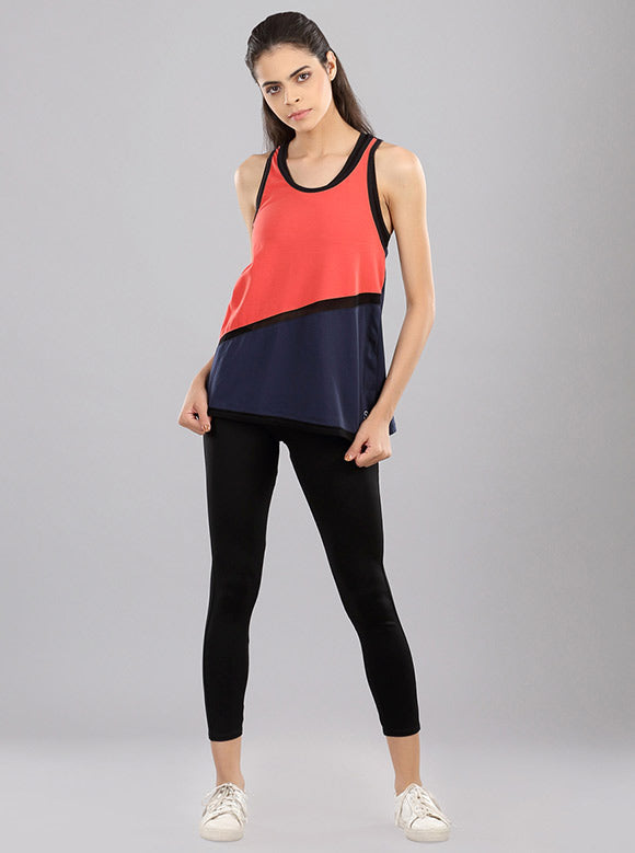 Kica Sweep Tank Top Red/Blue
