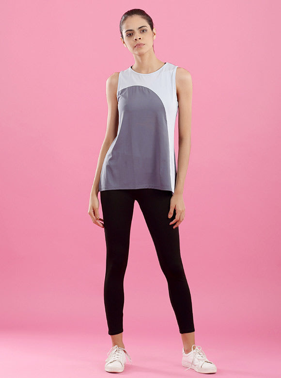 Kica Roar Tank Top Grey/Light Blue