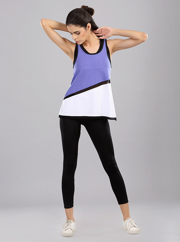 Kica Sweep Tank Top Purple/White