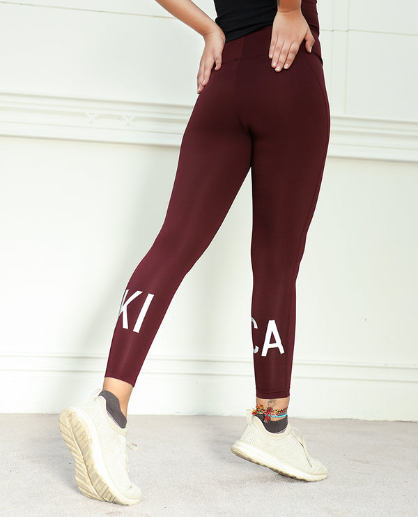 Fleet Leggings Burgundy