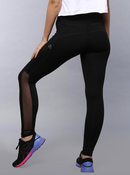 Kica High Waisted Mesh Leggings Black