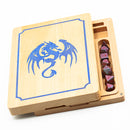 (Blue) Beach Rectangle Wooden Box w/ Dragon Logo