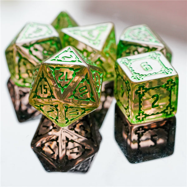 (Green) Huge Castle Dice (D6:25mm) 7-Dice