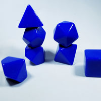 Blue Blank 7-Dice Set d4, d6, d8, d10, d12, d20 for Customization Ready DIY HDdice