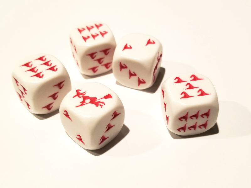 Red Witch and Witch Hats Dice Custom