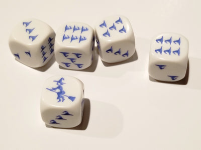 Blue Witch and Witch Hats Dice Custom