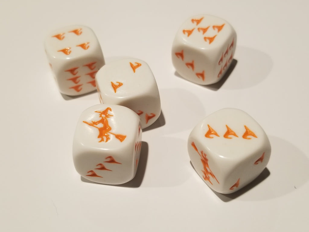 Orange Witch and Witch Hats Dice Custom