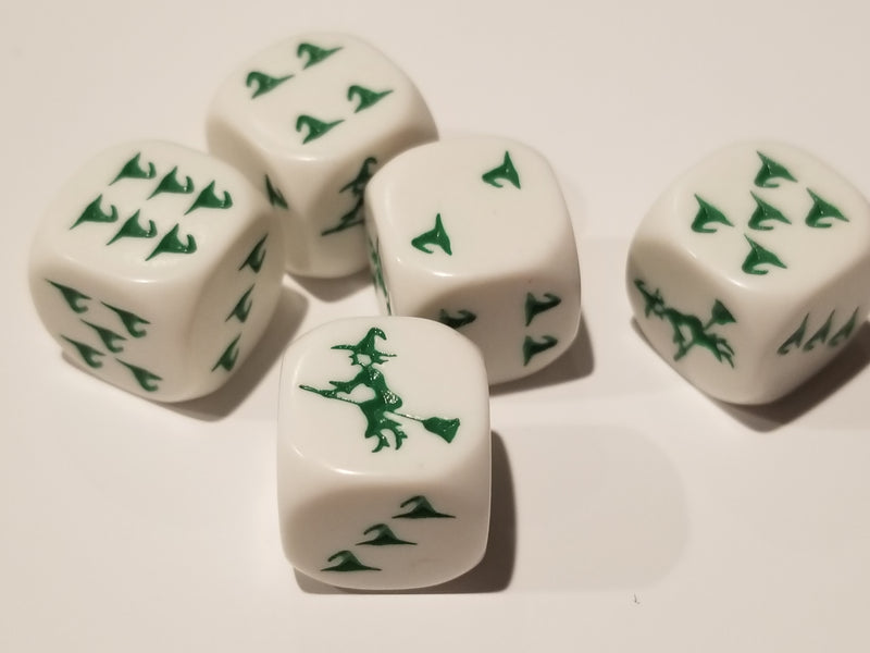 Green Witch Hats Dice Custom