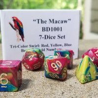 """The Macaw"" 7-Dice Set BD1001"