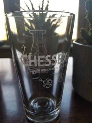 Lab Dice Pint Glass