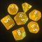 'Glitter Party' Yellow Glitter Dice (White font)