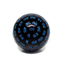 D100-Black Opaque w/Blue Numbers