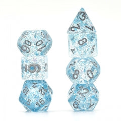 Blue Glitter Stars Dice Series