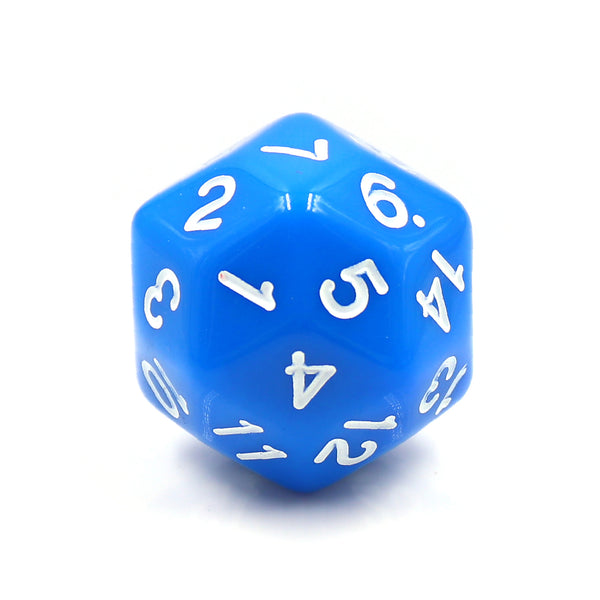 D30 Blue Opaque Single Die 30 Sided/s by HDdice / HengDadice