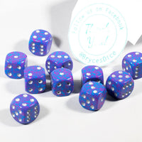 New Silver Tetra Dice with Silver Pips 12mm D6 RPG Dice (10) Yahtzee by Chessex