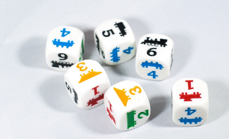 18mm Train Dice Colorful Learning Children Easy to Read Novelty Yahtzee School