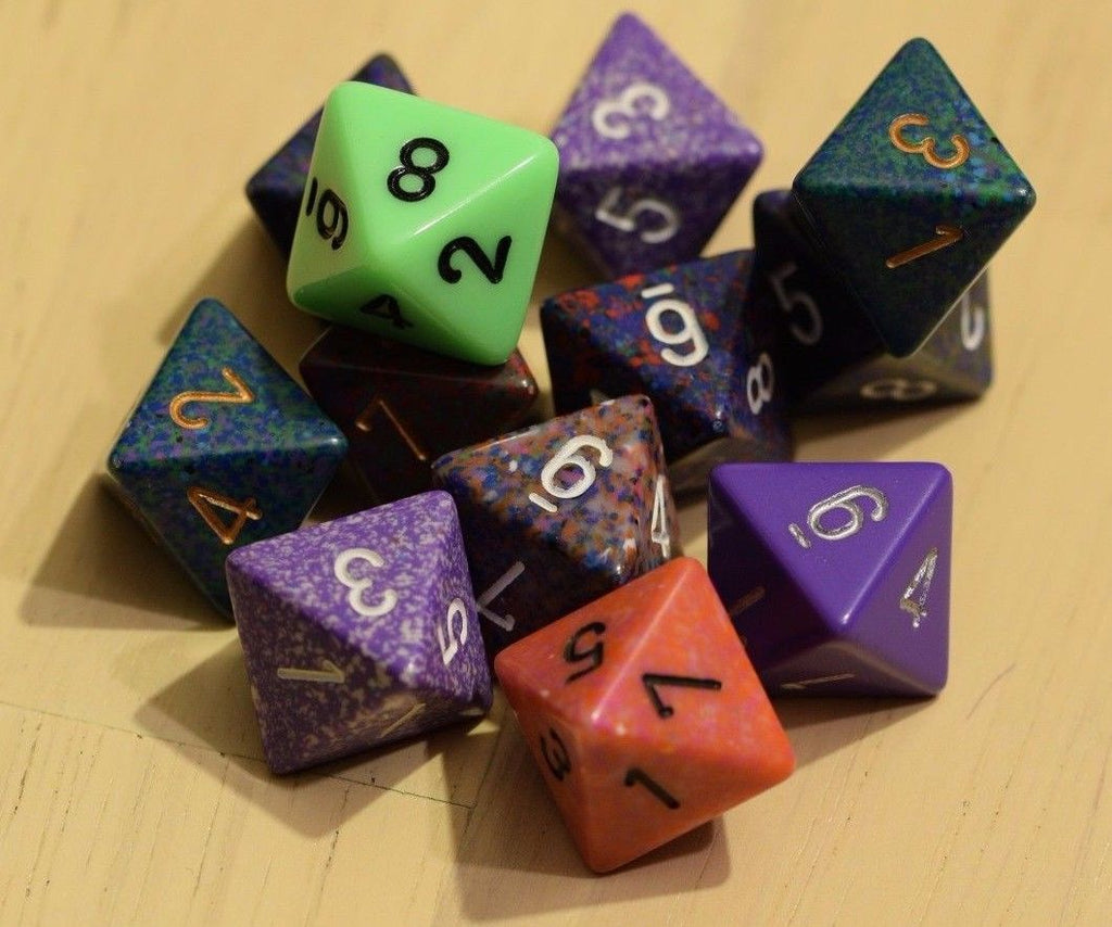 Random Set of 6 d8 Eight Sided RPG Dungeons and Dragons Dice (6) Chessex Magic