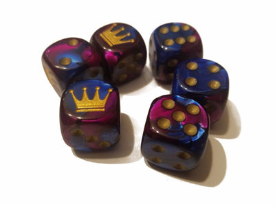Custom Crown Gemini Blue-Purple Chessex Magic Rare Royal Regal by BrycesDice