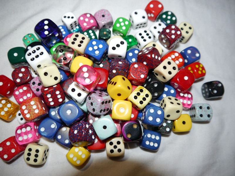 Random d6 Chessex Gaming RPG Yahtzee Dice Multi Colors Sizes Quality RARE