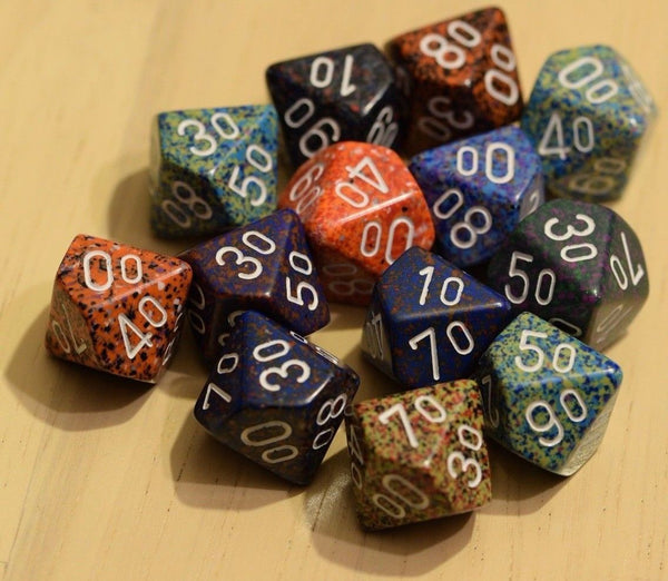 Random Set of 6 d10 Ten Sided Percent RPG Dungeons and Dragons Dice (6) Chessex