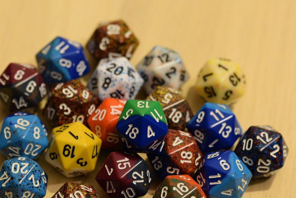 Random Set of 19mm d20 Twenty Sided RPG Dungeons and Dragons Dice (6) Chessex