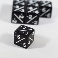 Black D6 MTG -1/-1 Counter Dice - 6 Pack - Magic: The Gathering DnD 6d6 Stats
