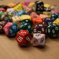 "Various Options of ""Pound of Dice"" RPG Chessex Game Dice d4, d6, d8, d12, d20 Rare Dice"
