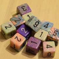 Random Set of 6 d6 Six Sided Numbers RPG Dungeons and Dragons Dice (6) Chessex