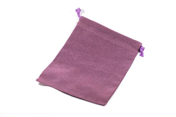 "Purple Velour Gift Dice Bag 4"" x 5"" Dice Bag w/ Grey Velvet Lining Counter Pouch"