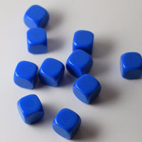 10 Pcs Blank Blue Dice / Counting Cubes 16mm D6 Square RPG Gaming Dice DIY