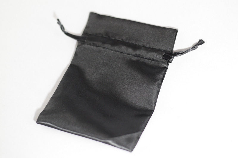 "2 Pack of Large Black Satin Gift Bag Game Dice Bag Counter Pouch 4""x 6"""